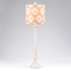 Burlap Medallion Buffet Lamp