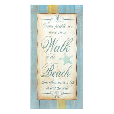 Beach Walk Wall Plaque