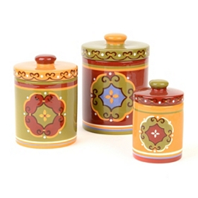 Calypso Ceramic Jar, Set of 3