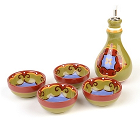 Calypso Oil Server & Bowl Set