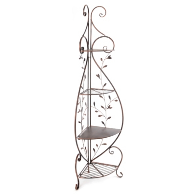 Bronze Vine Corner Shelf