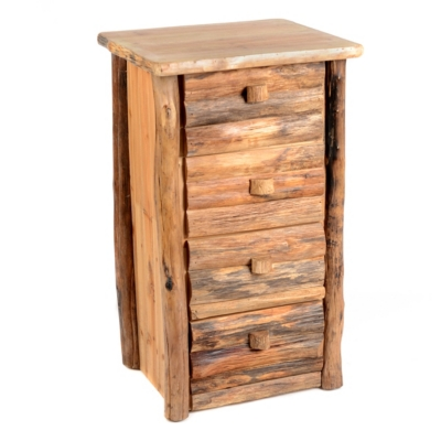 Stacked Log 4-Drawer Chest