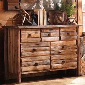 Stacked Log 7-Drawer Dresser