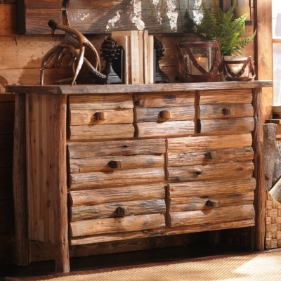 Stacked Log 7-Drawer Dresser