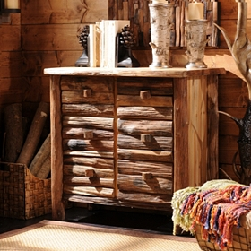 Stacked Log 6-Drawer Chest