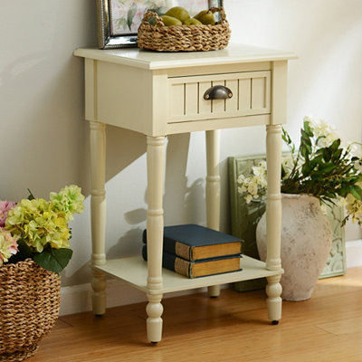 Buttermilk Beadboard Accent Table