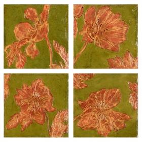 Bloom Quartet Canvas Art Print, Set of 4