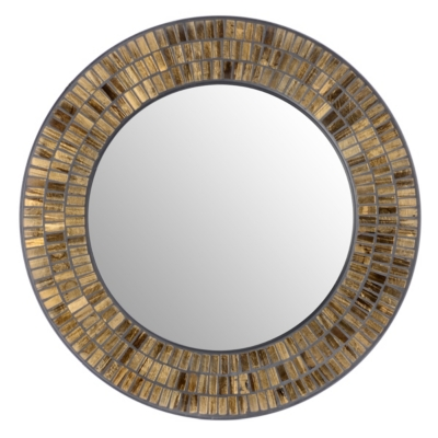 Gold Mosaic Wall Mirror, 24 in.