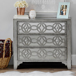 Libby Silver Mirrored 3-Drawer Chest