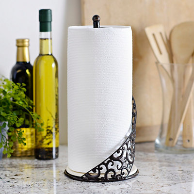 Pressed Metal Paper Towel Holder