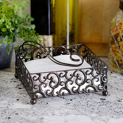 Pressed Metal Napkin Holder