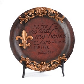 Serve The Lord Red Resin Charger
