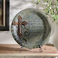For God So Loved Blue Resin Plate