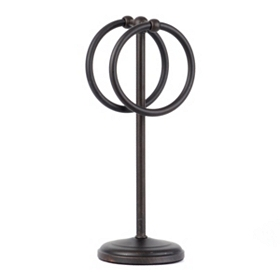 Bronze Double Ring Towel Holder