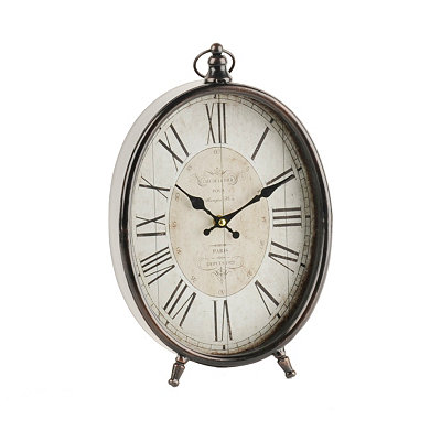 Bronze Oval Table Clock