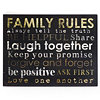 Family Rules Tin Wall Plaque