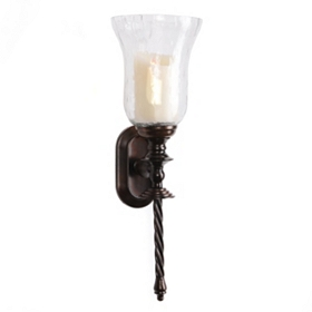 Hammered Glass Sconce
