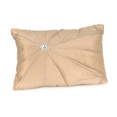 Taupe Diamond Burst Silk Pillow