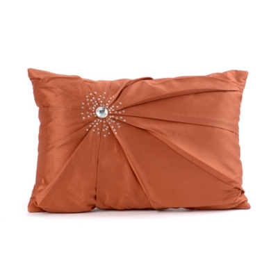 Spice Diamond Burst Silk Pillow