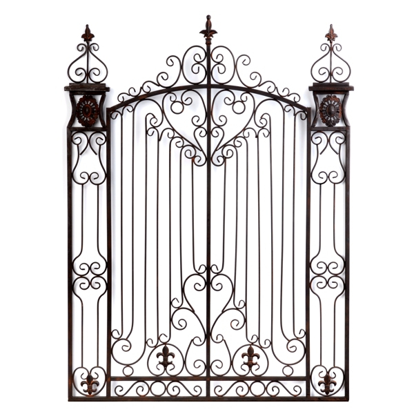 Metal Gate Wall Decor bronze garden gate metal wall art | kirklands