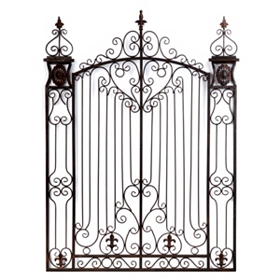 Bronze Garden Gate Metal Wall Art
