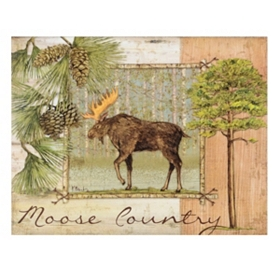 Moose Country Canvas Art Print