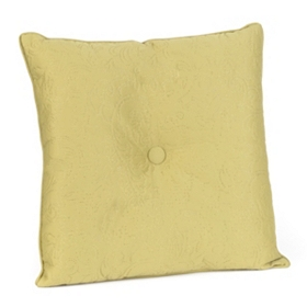 Green Embossed Scroll Pillow