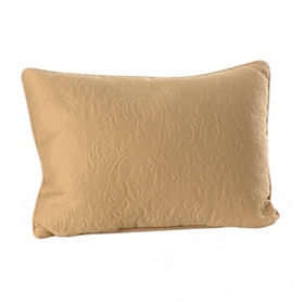 Tan Embossed Scroll Oblong Pillow