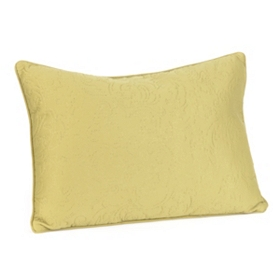 Green Embossed Scroll Oblong Pillow