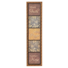 Faith, Prayer & Hope Framed Wall Plaque
