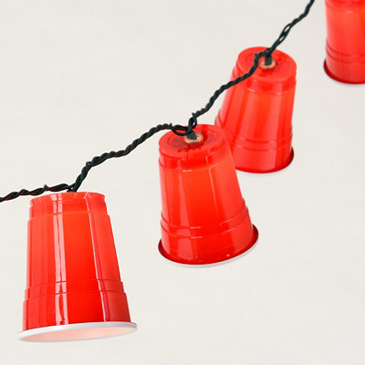 Red Party Cup Lights, 8.5 ft.