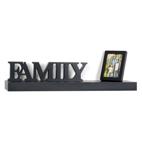 Family Photo Wall Shelf, 24 in.