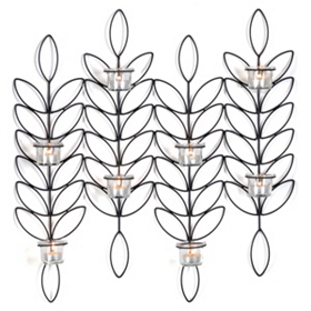 Metal Leaf Tealight Sconce