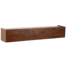 Mahogany Hinged Wall Ledge, 24 in.