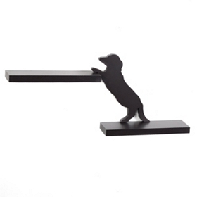 Dog Silhouette Double Shelf, 28 in.