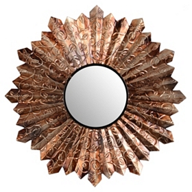 Pleated Metal Wall Mirror