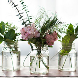 Mason Jar Glass Candle Holder