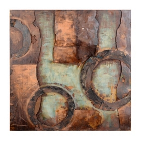 Sapphire Abstract Metal Wall Plaque