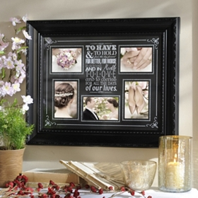 Wedding Vows 5-Opening Collage Frame