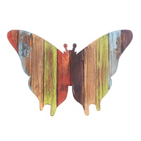 Vibrant Butterfly Wall Plaque