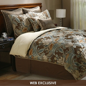 Rasmussen Mocha 8-pc. Queen Comforter Set