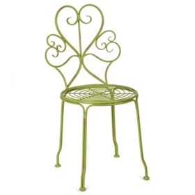 Iriana Green Iron Side Chair