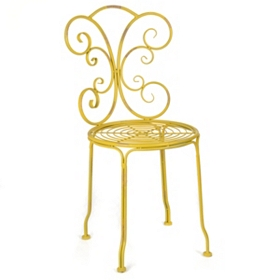 Azalia Yellow Iron Side Chair