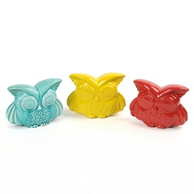 Bright Eyes Ceramic Owl Statue