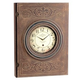 Antique Clock Embossed Book Box