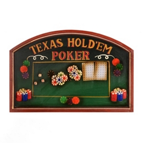 Texas Hold'em Pub Sign