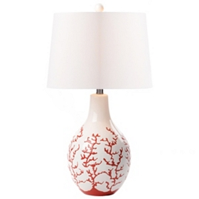 Red Coral Ceramic Lamp