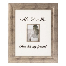Mr & Mrs Wedding Photo Frame, 5x7