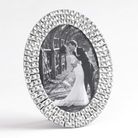 Clear Jeweled Oval Picture Frame, 5x7