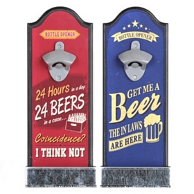 Have a Drink Bottle Opener Wall Plaques